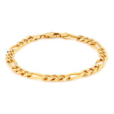 Men's Figaro Bracelet in 10ct Yellow Gold