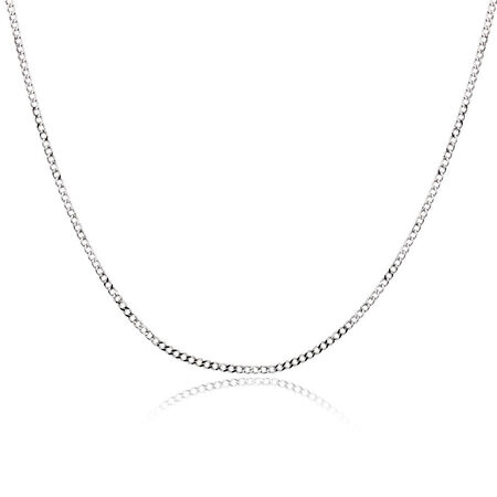 "50cm (20"") Curb Chain in 10ct White Gold"