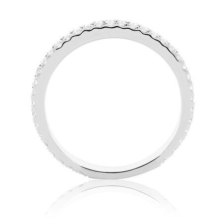 Sir Michael Hill Designer GrandArpeggio Wedding Band with 0.35 Carat TW of Diamonds in 14ct White Gold