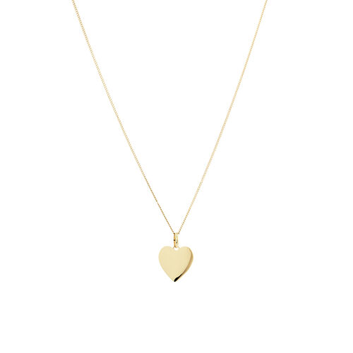 Small Heart Pendant in 10ct Yellow Gold