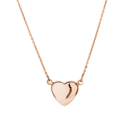 Mini Heart Necklace in 10ct Rose Gold