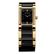 Ladies Watch in Black Ceramic & Gold Tone Stainless Steel