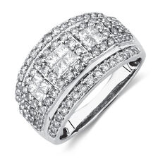 Ring with 1 1/4 Carat TW of Diamonds in 10ct White Gold