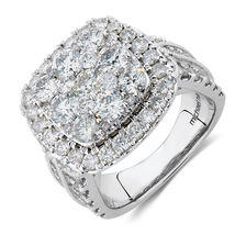 Ring with 4 Carat TW of Diamonds in 10ct White Gold