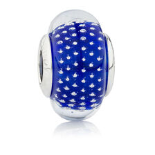 Online Exclusive - Blue Glass Charm in Sterling Silver