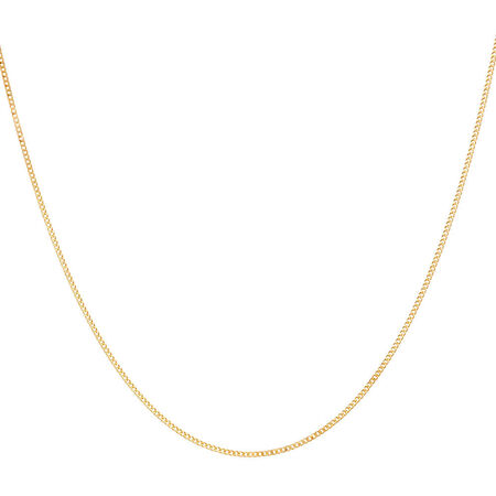 "45cm (18"") Solid Curb Chain in 10ct Yellow Gold"