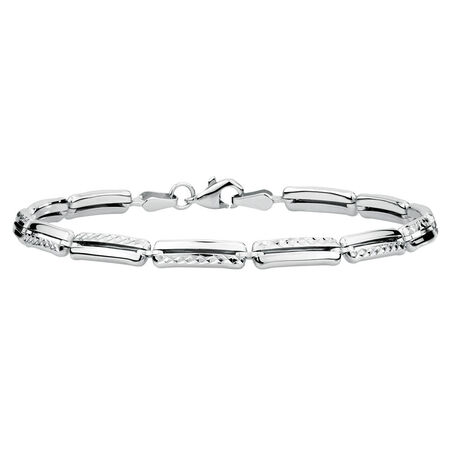 "19cm (7.5"") Bracelet in 10ct White Gold"