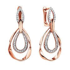 Drop Earrings with 1/4 Carat TW of Diamonds in 10ct Rose Gold