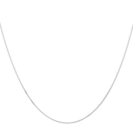 "45cm (18"") Solid Curb Chain in 10ct White Gold"
