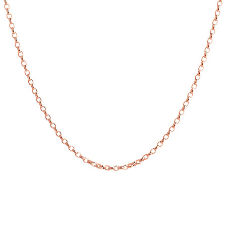 "60cm (24"") Oval Belcher Chain in 10ct Rose Gold"