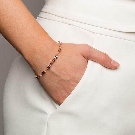 """19cm (7.5"""") Patterned Bracelet in 10ct Rose Gold"""