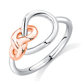 Knots Ring in Sterling Silver & 10ct Rose Gold
