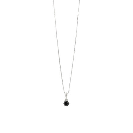 Pendant with Black Cubic Zirconia in Sterling Silver