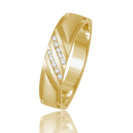 Two Row Ring in 10ct Yellow Gold
