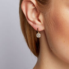 f59b29889 ... Drop Earrings with 1/4 Carat TW of Diamonds in 10ct Yellow Gold