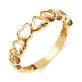 Heart Link Ring in 10ct Yellow Gold