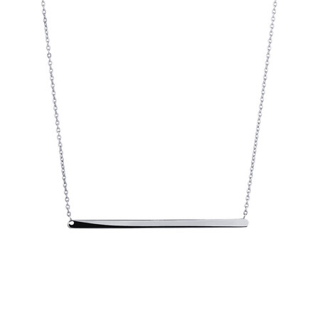 """45cm (18"""") Bar Necklace in 10ct white Gold"""