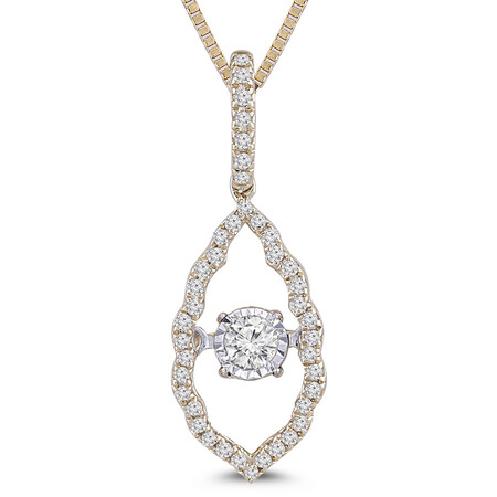 Everlight Pendant with 0.20 Carat TW of Diamonds in 10ct Yellow Gold