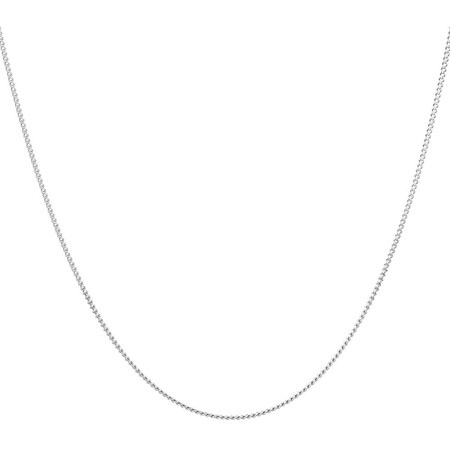 """55cm (22"""") Curb Chain in 10ct White Gold"""