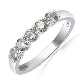 Wedding Band with 0.65 Carat TW of Diamonds in 10ct White Gold
