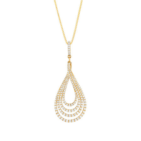 Pendant with 1 Carat TW of Diamonds in 14ct Yellow Gold
