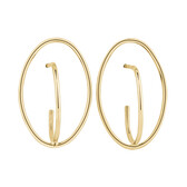 Oval Stud Earrings in 10ct Yellow Gold