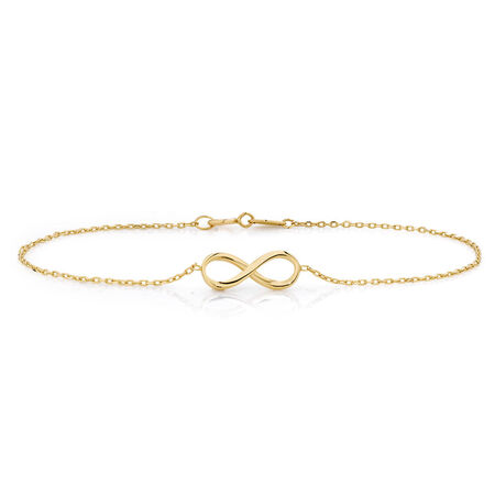 Infinity Bracelet in 10ct Yellow Gold
