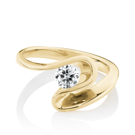 Southern Star Ring with 0.40 Carat TW of Diamonds in 18ct Yellow Gold