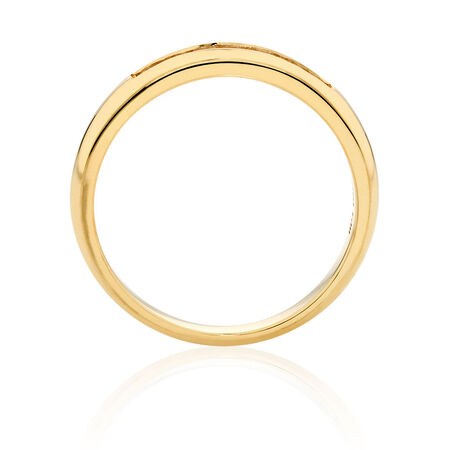 Wedding Band with 0.17 Carat TW of Diamonds in 18ct Yellow Gold