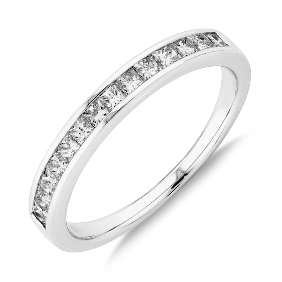 Evermore Wedding Band with 0.50 Carat TW of Diamonds in 14ct White Gold