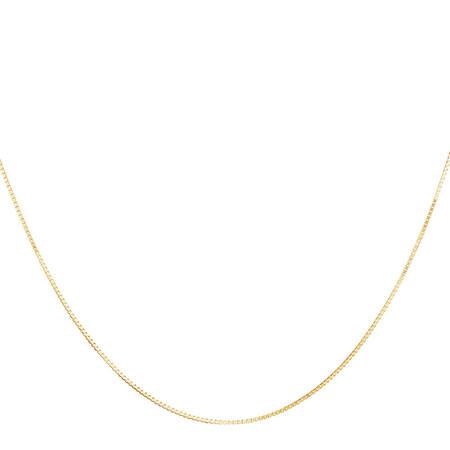 "40cm (16"") Diamond Cut Box Chain in 14ct White Gold"