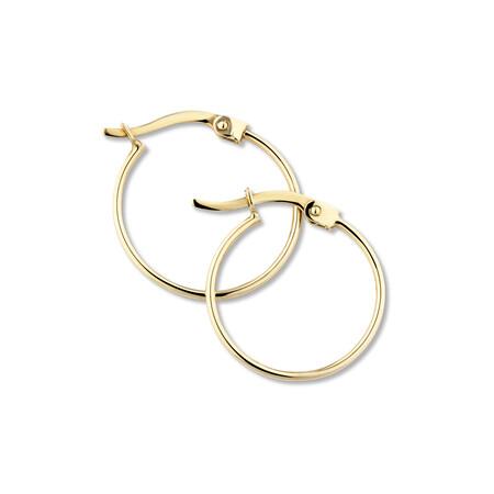 17mm Hoop Earrings in 10ct Yellow Gold