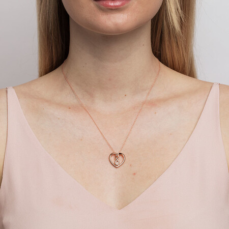 Medium Infinitas Pendant with Diamonds in 10ct Rose Gold