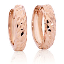 Hoop Earrings in 10ct Rose Gold