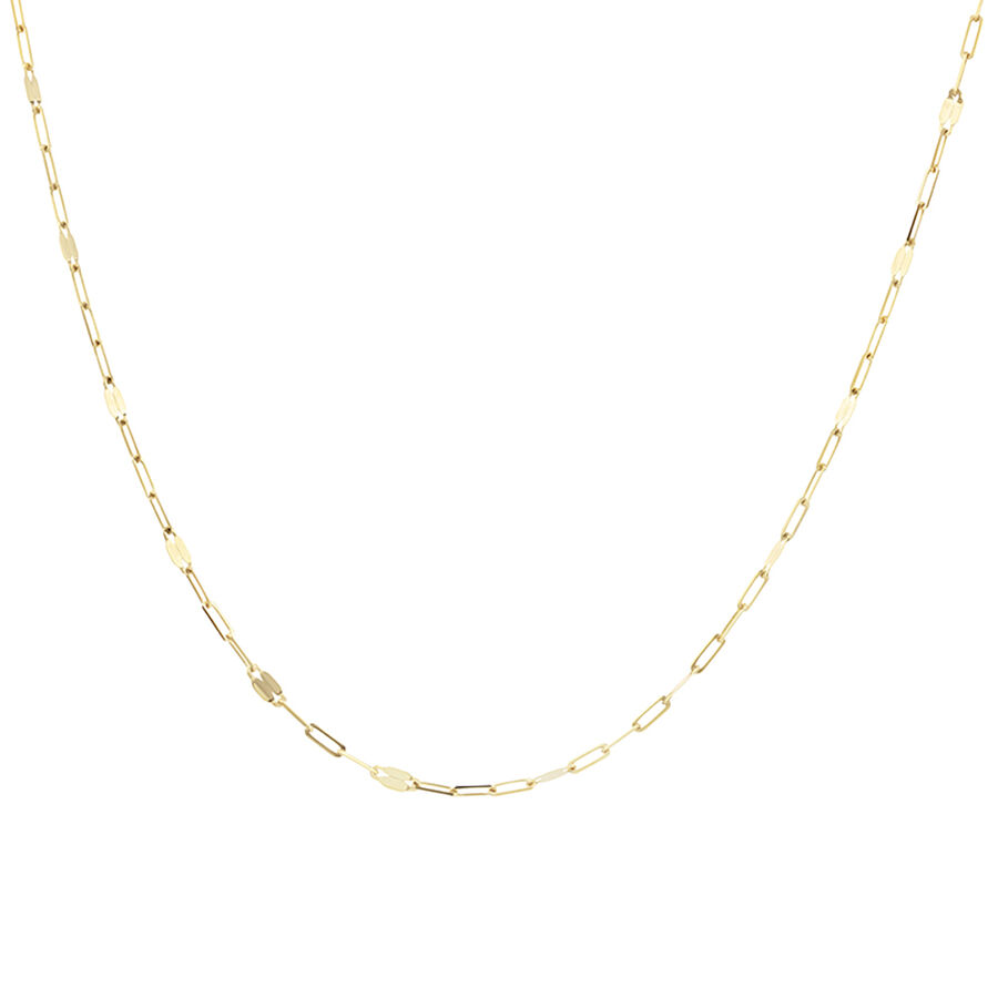 60cm Oval Mirror Cable Chain in 10ct Yellow Gold