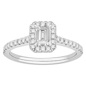 Ring with 0.92 Carat TW of Diamonds in 14ct White Gold
