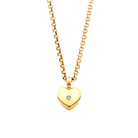 Enhancer Pendant with Diamonds in 10ct Yellow Gold