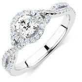 Sir Michael Hill Designer GrandAdagio Engagement Ring with 1.05 Carat TW of Diamonds in 14ct White Gold