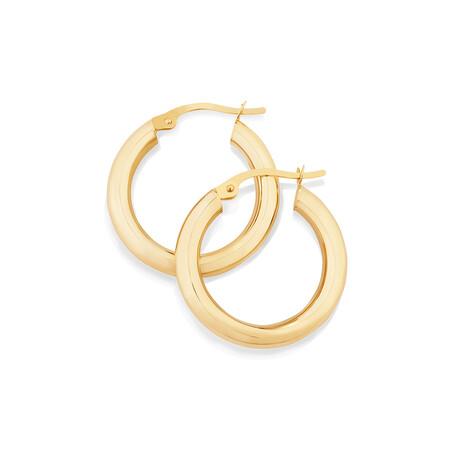 15mm Hoop Earrings in 10ct Yellow Gold