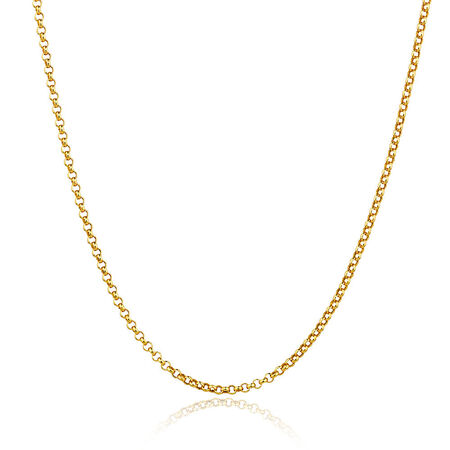 """50cm (20"""") Hollow Belcher Chain in 10ct Yellow Gold"""