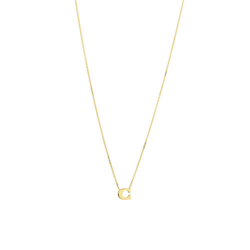 """C"" Initial Necklace in 10ct Yellow Gold"