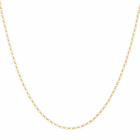 "50cm (20"") Belcher Chain in 10ct Yellow Gold"