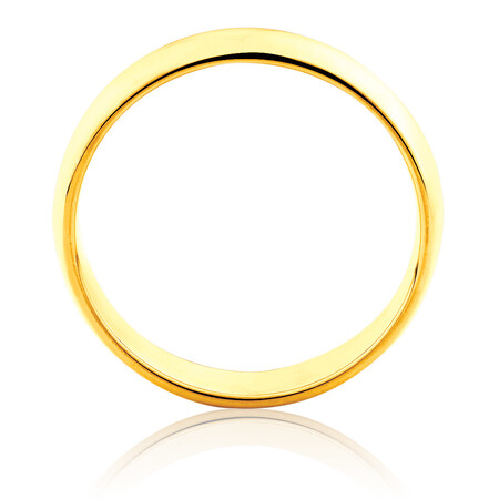High Domed Wedding Band in 10ct Yellow Gold