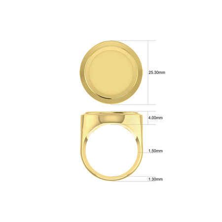 Half Sovereign Ring in 10ct & 22ct Yellow Gold