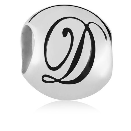 Sterling Silver 'D' Charm