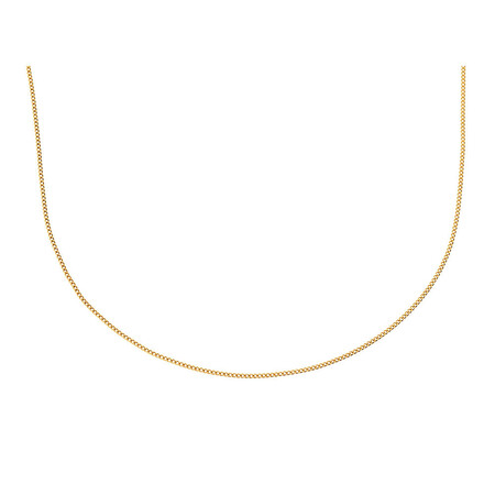 """50cm (20"""") Curb Chain in 10ct Yellow Gold"""