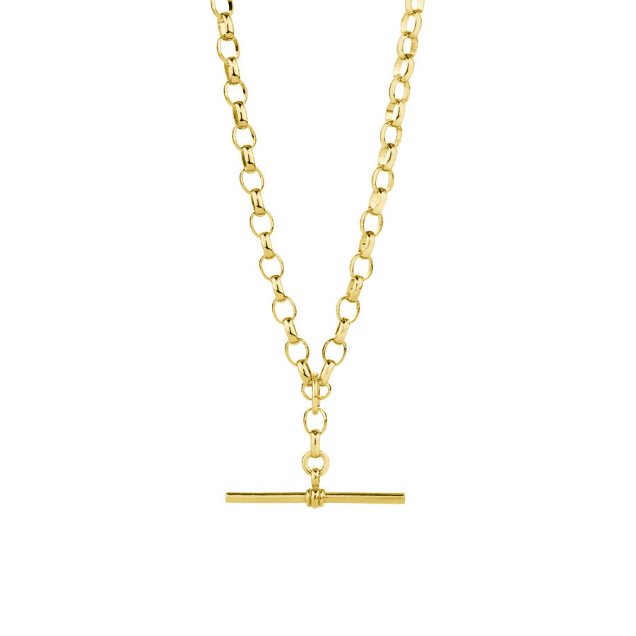 """50cm (20"""") Belcher Fob Chain in 10ct Yellow Gold"""