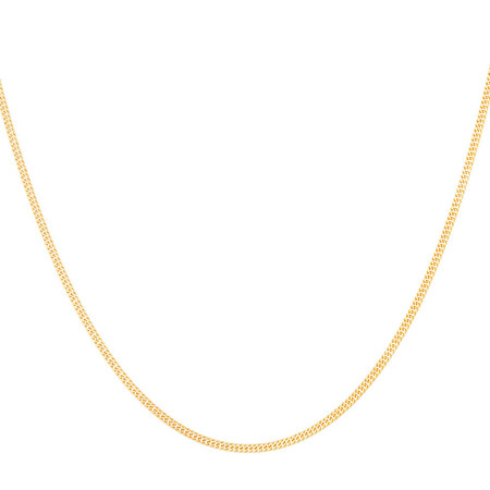 40cm Double Curb Chain in 10ct Yellow Gold