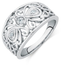 Ring with Diamonds in Sterling Silver