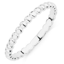 Sterling Silver Bubble Stack Ring